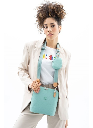 Benetton Messenger / Askılı Çanta Yeşil
